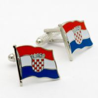 Croatia Waving Flag Cufflinks by Onyx Art In Gift Box CK979